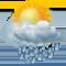 облачно с умеренным дождем