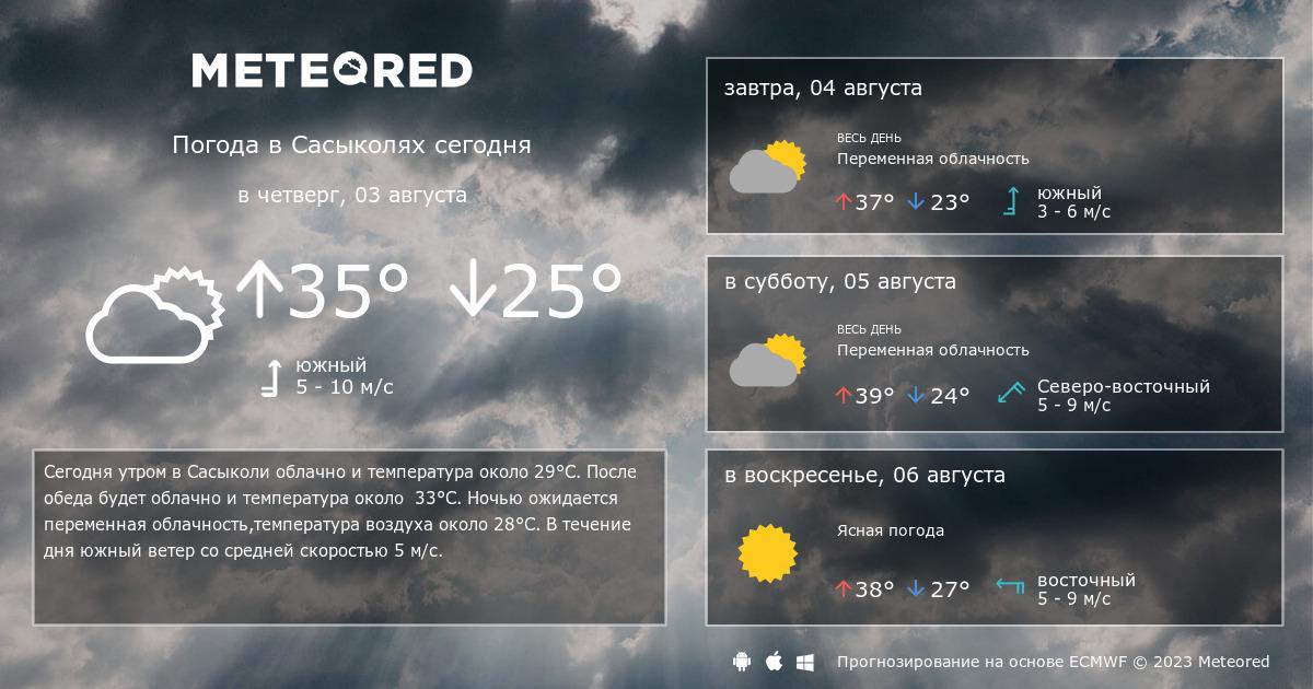 Погода в сасыколи на 3 дня